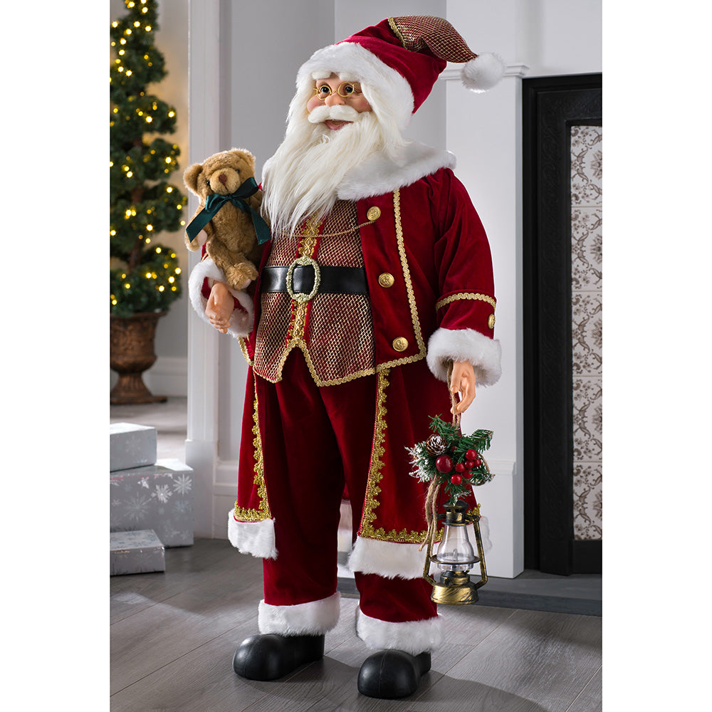 Large Standing Santa Christmas Decoration, 90cm