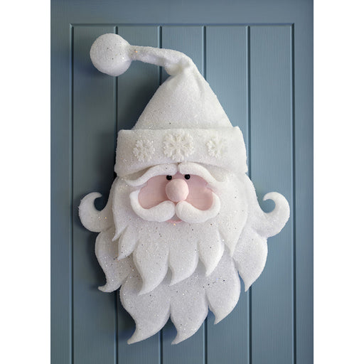 70 cm Fibre Poly Cotton Santa Silhouette Christmas Decoration, White