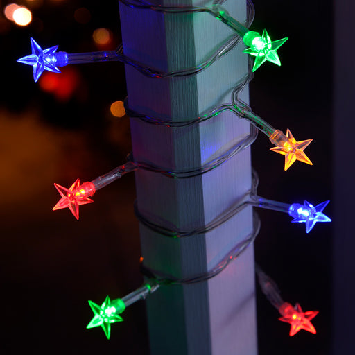 20-Piece Battery Operated Multi-Colour LED Star Lights String Christmas Tree Decoration