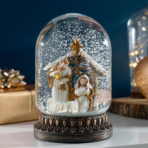 Nativity Scene Snowglobe Christmas Decoration 16 cm