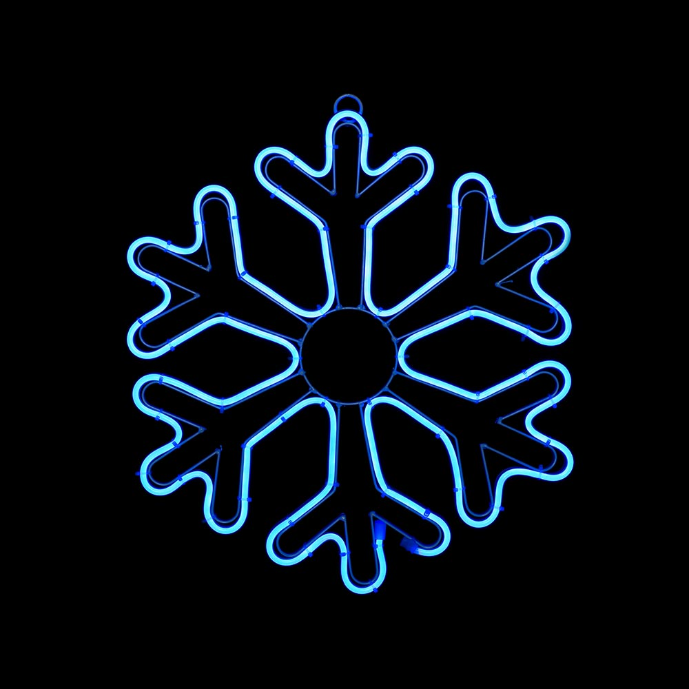 Christmas Snowflake Neon Rope Light Silhouette 46 cm