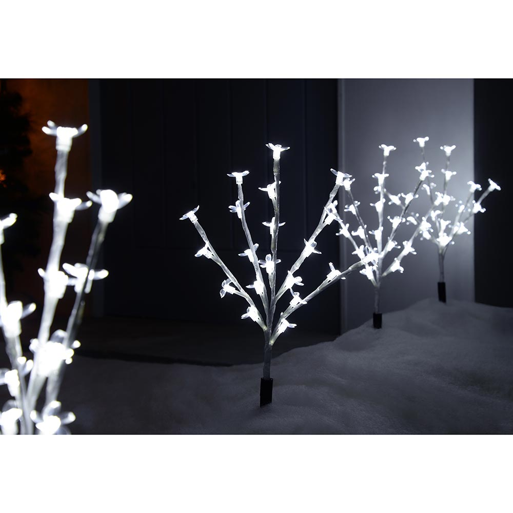 30 cm Cherry Blossom Tree Pathway Christmas Lights with 80 LED, Set of 4