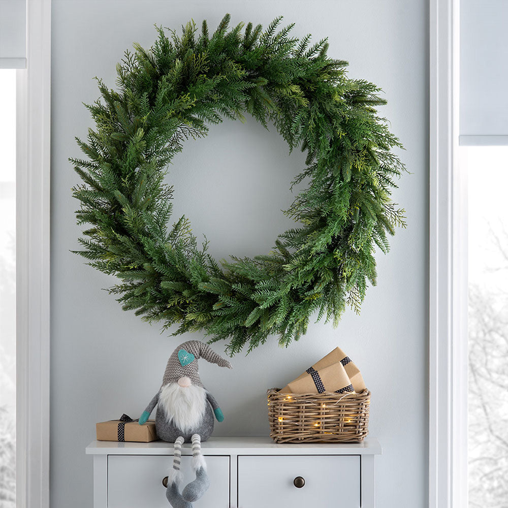 Natural Fir Christmas Wreath Decoration,1m