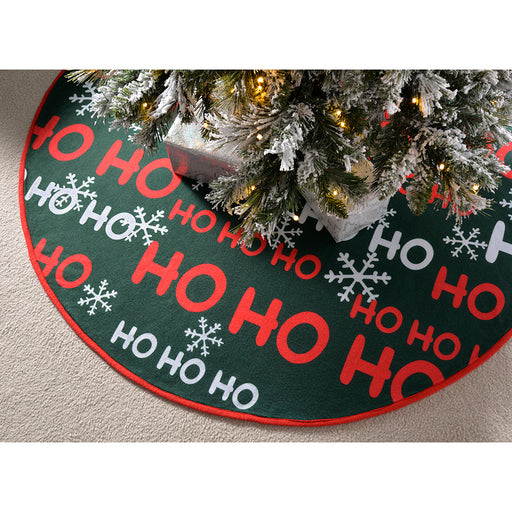 HO HO HO Christmas Tree Skirt Decoration, 107 cm - Large, Multi-Colour