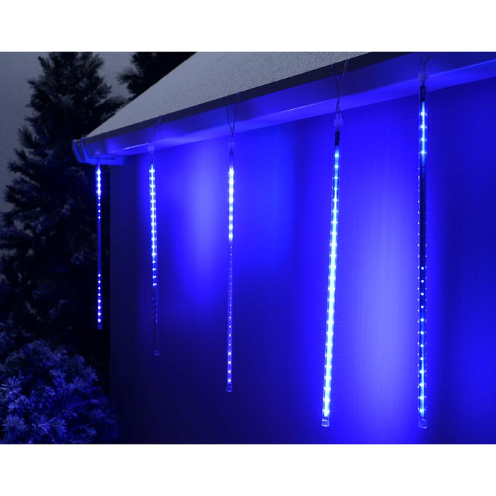 Drop Snowing Snowfall/Meteor Shower Tube with 150-LED, 50 cm - Blue, Set of 5