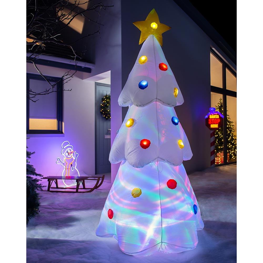 Pre-Lit Animated Inflatable Christmas Tree 6 ft / 1.8 m