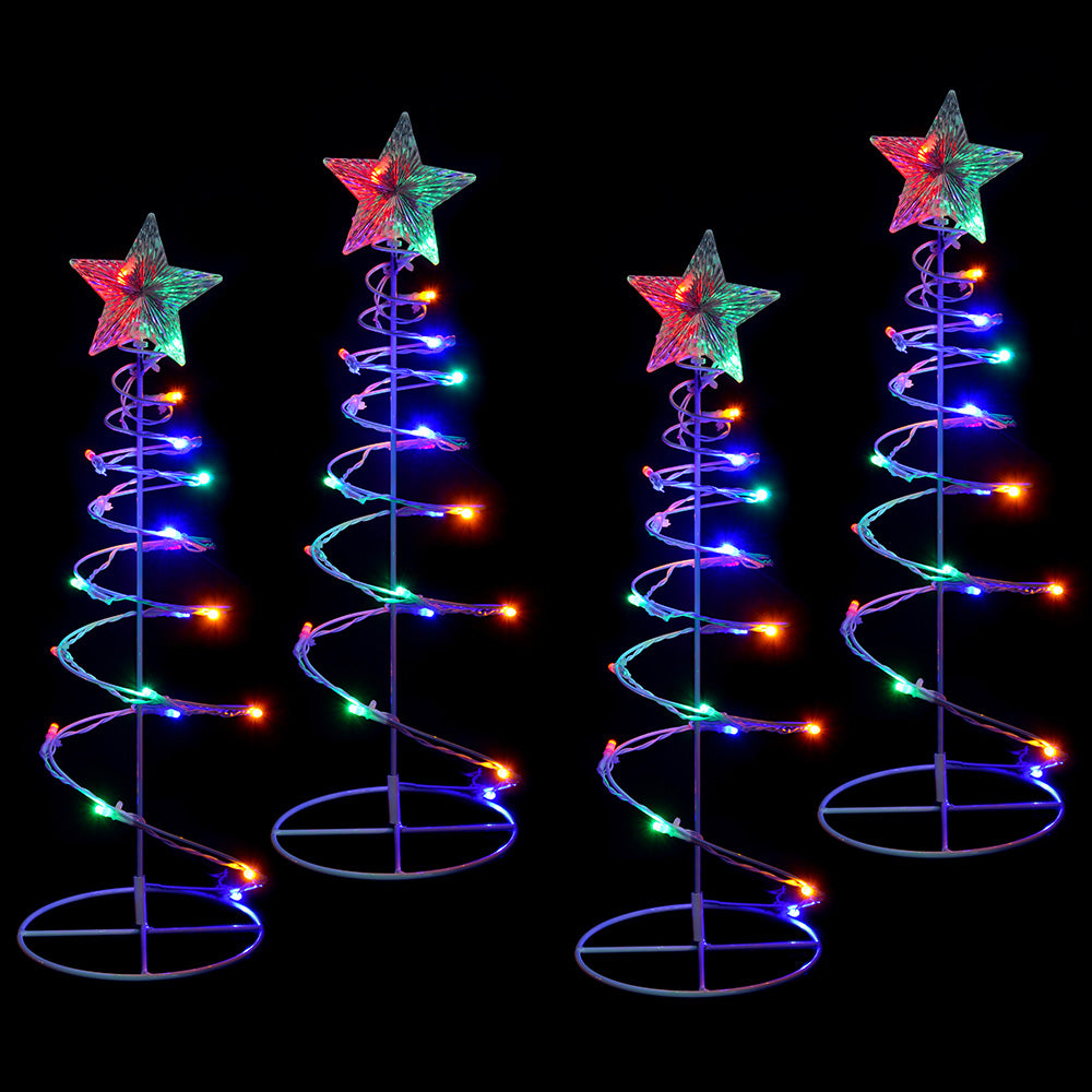 Spiral Trees Christmas Lighting 8 Function Controller, 55cm, Set of 4