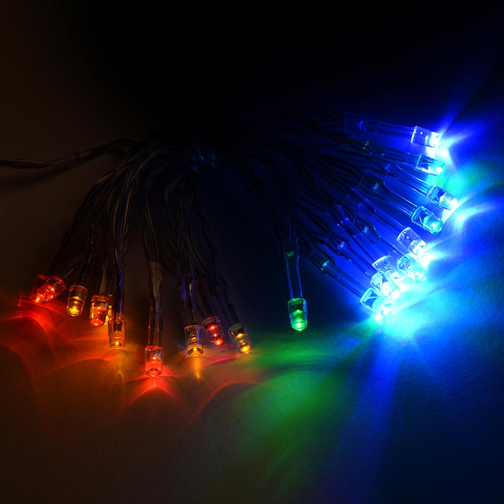 20-Piece Battery Operated Static/ Flash LED String Lights