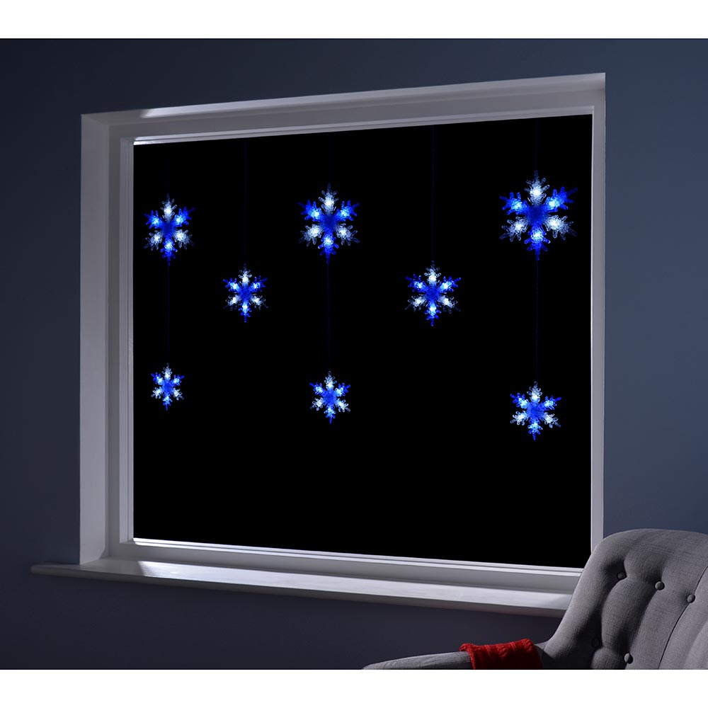 Multi-Function Snowflake Curtain Light with 48 LED