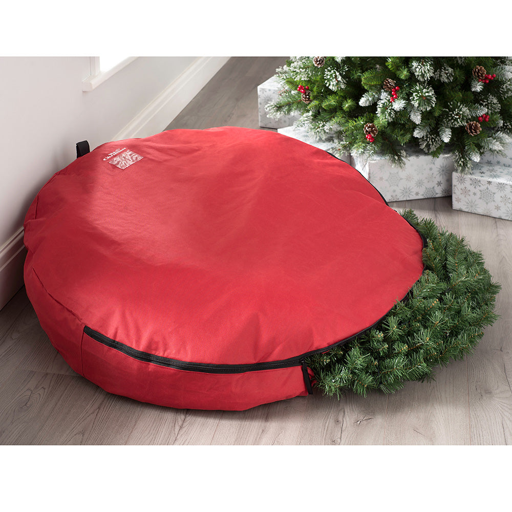 Extra-Large Garland & Wreath Christmas Storage Bag, Red, 120 cm