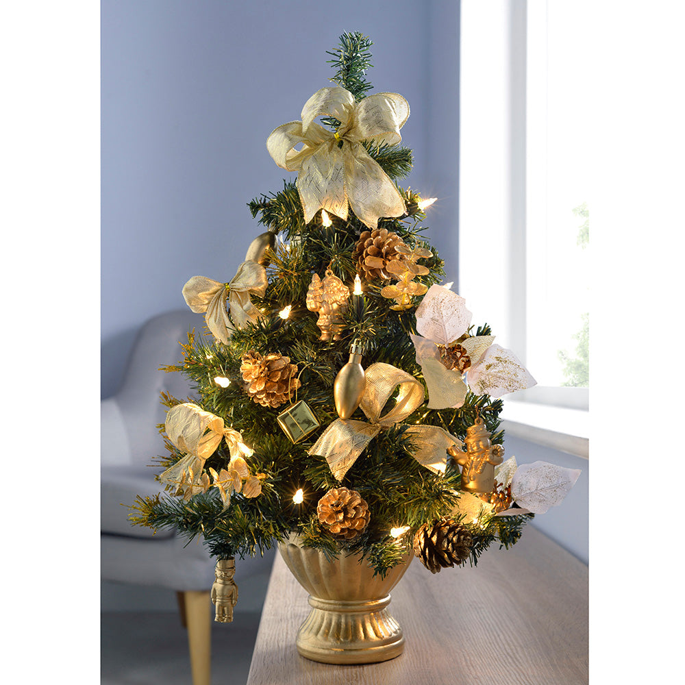 2 ft Pre-Lit Decorated Christmas Tree Table Decoration ...