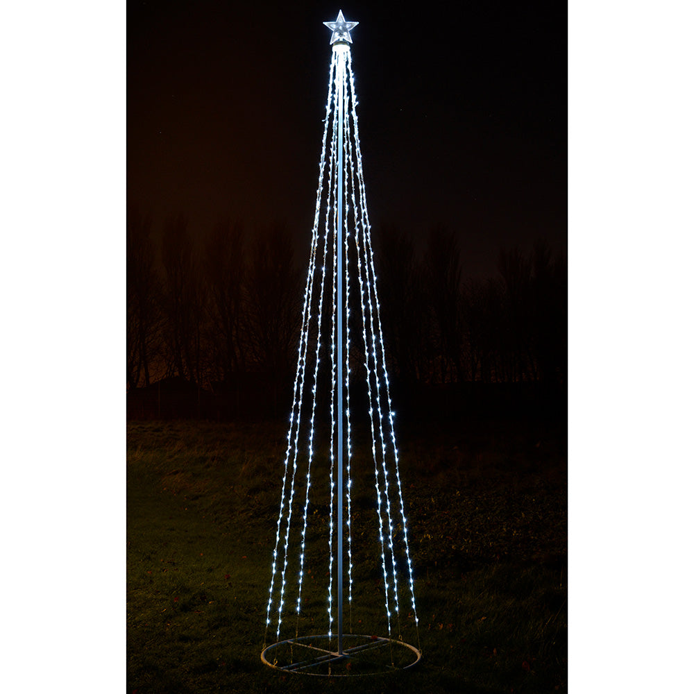 WeRChristmas Pre-Lit LED Animated Function Pop-Up Christmas Tree 270 cm White