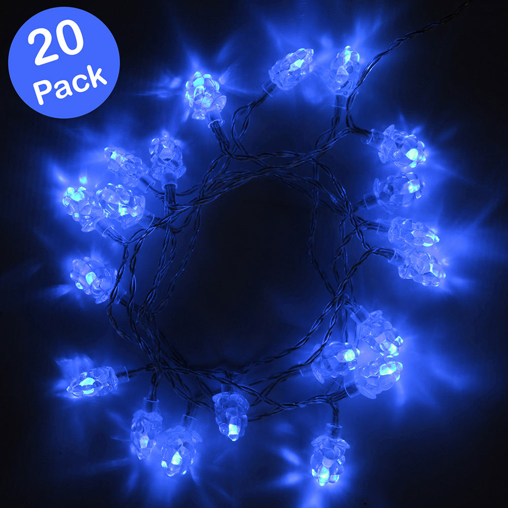 LED Christmas Tree Lights String with Berry Shade and Cable