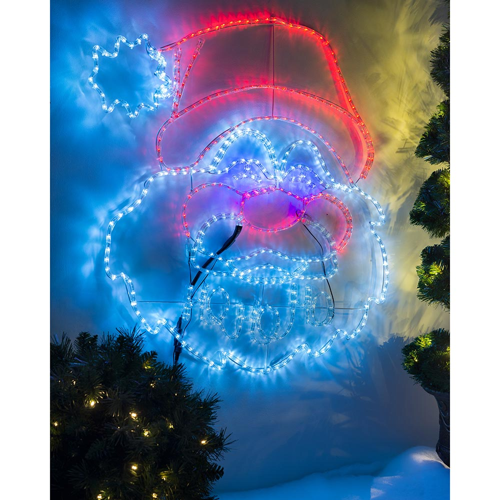 Christmas HO HO HO Santa Rope Light Silhouette 96 cm