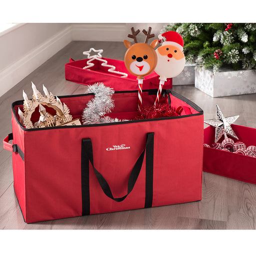 Multi-Purpose Christmas Decoration Storage Bag, Red, 76 x 38 x 38cm