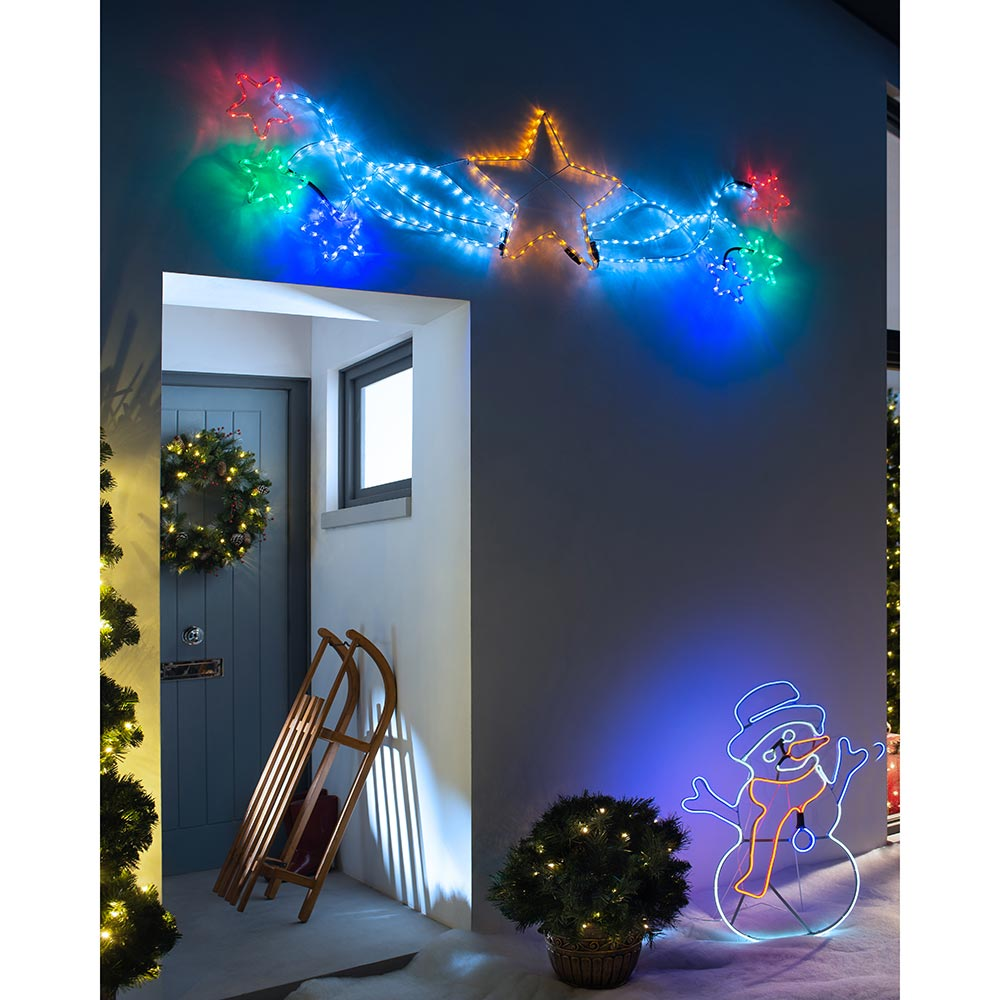 Large Star Motif Christmas Rope Light Silhouette 190 cm