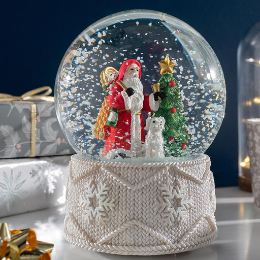 Santa Musical Snowglobe Christmas Decoration 16 cm