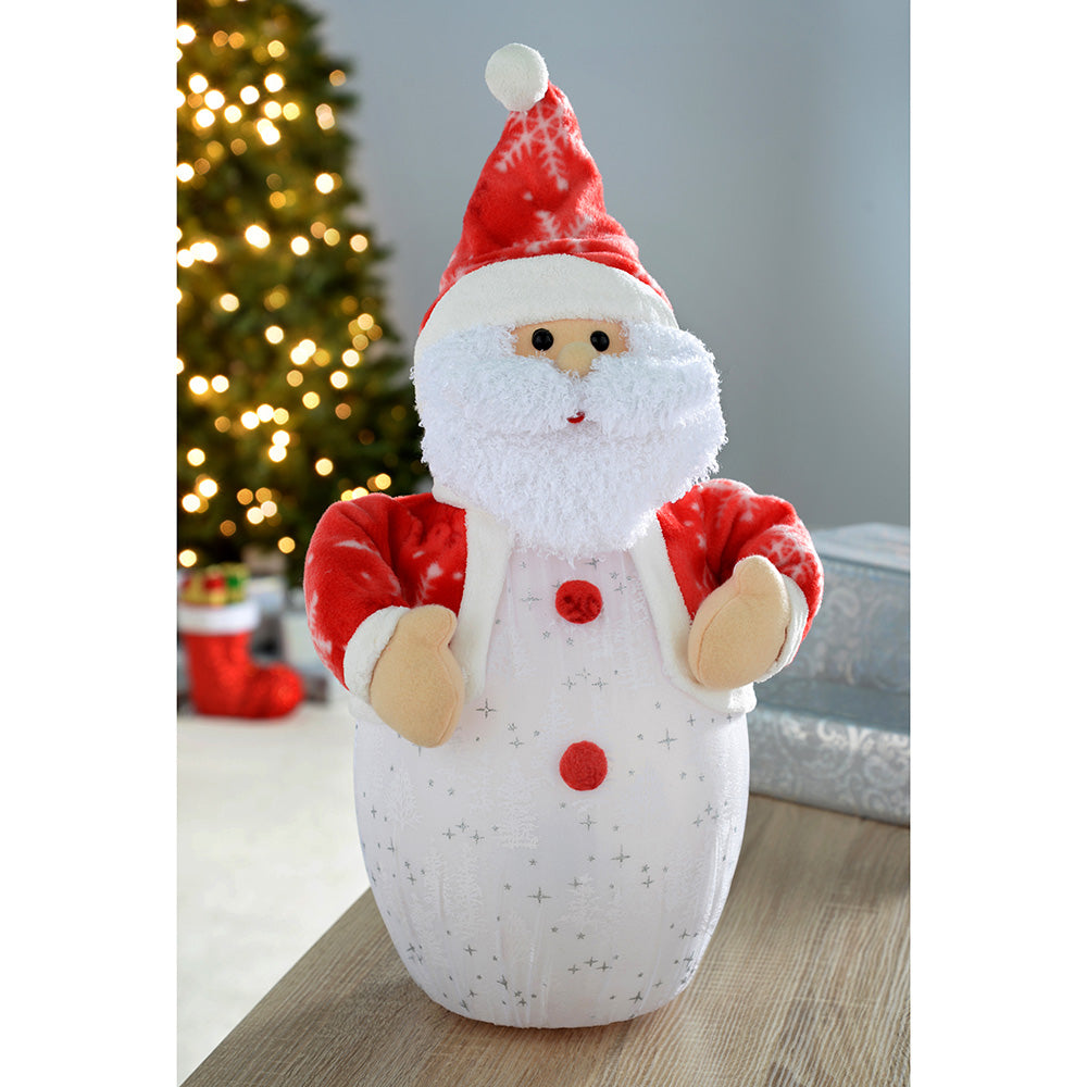 Santa with 8 Musical Songs and Snowing Effect Colour LED Body, 51cm - Large