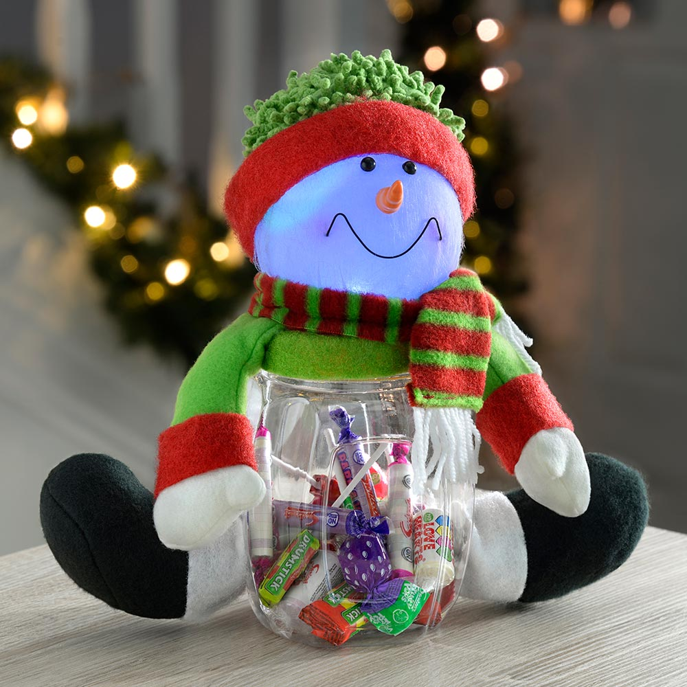 Pre-Lit Light Up Candy Sweet Jar with LED Lights Christmas Decoration