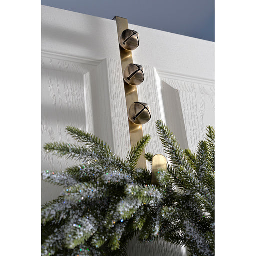 Bells Wreath Hanger Christmas Decoration, 38 cm - Antique Gold