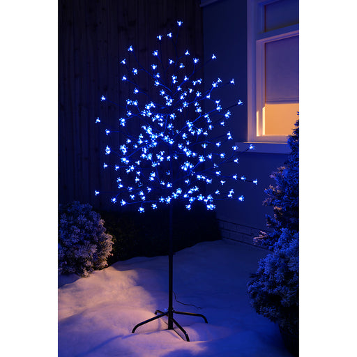 Pre-Lit 200 LED Colour Controlled Cherry Blossom Tree, Multi-Colour, 5 ft/1.5 m