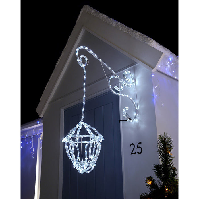 60 cm LED Flashing Lantern Silhouette Christmas Decoration, White