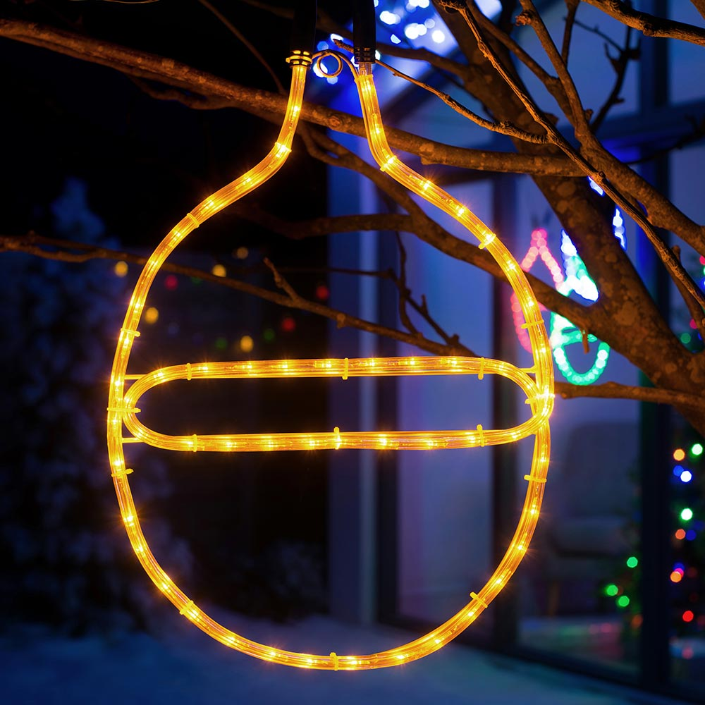 Pre-Lit Connectable Bauble Rope Light Silhouette, 54 cm
