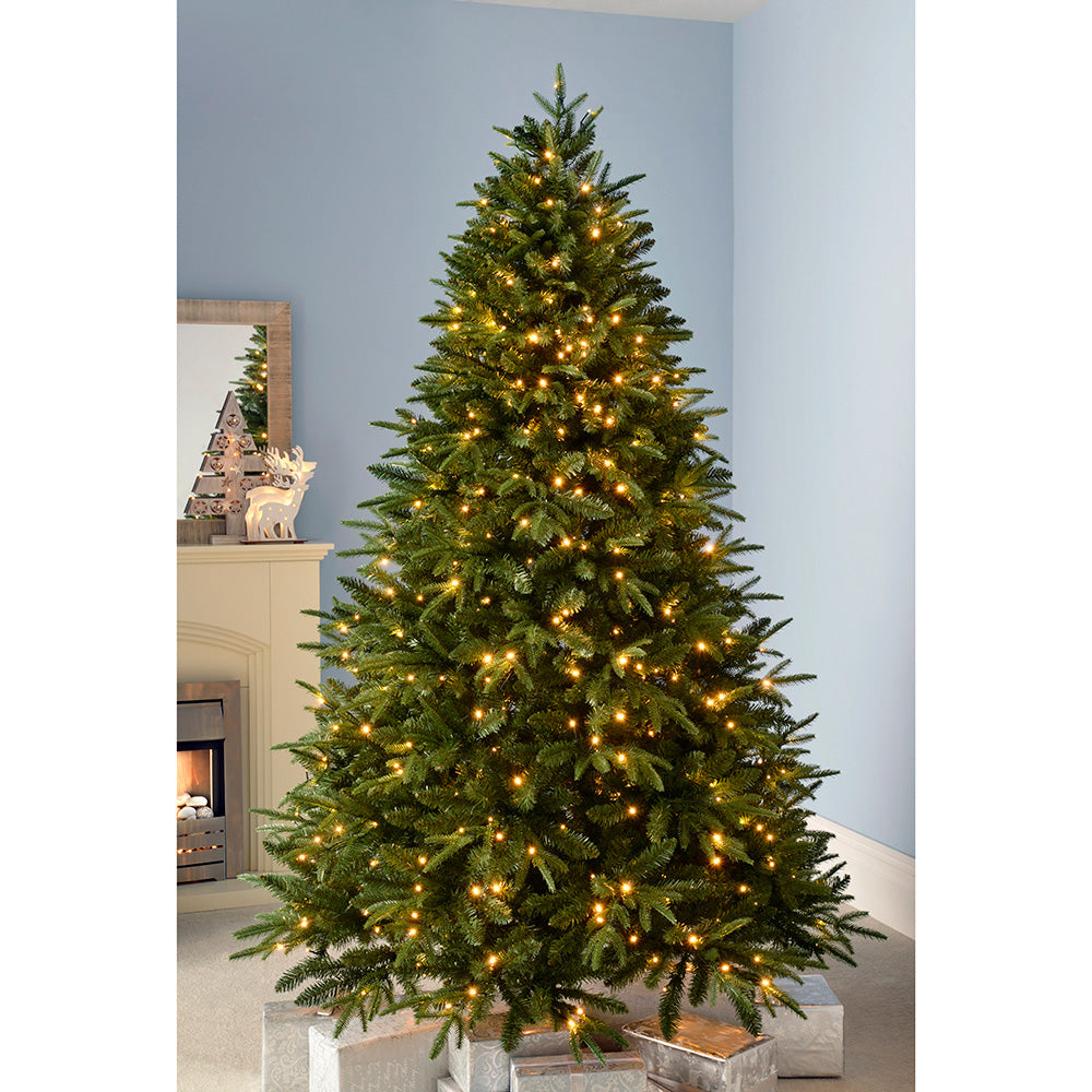 Pre-Lit Windsor Fir Multi-Function Christmas Tree with Warm White LED Lights