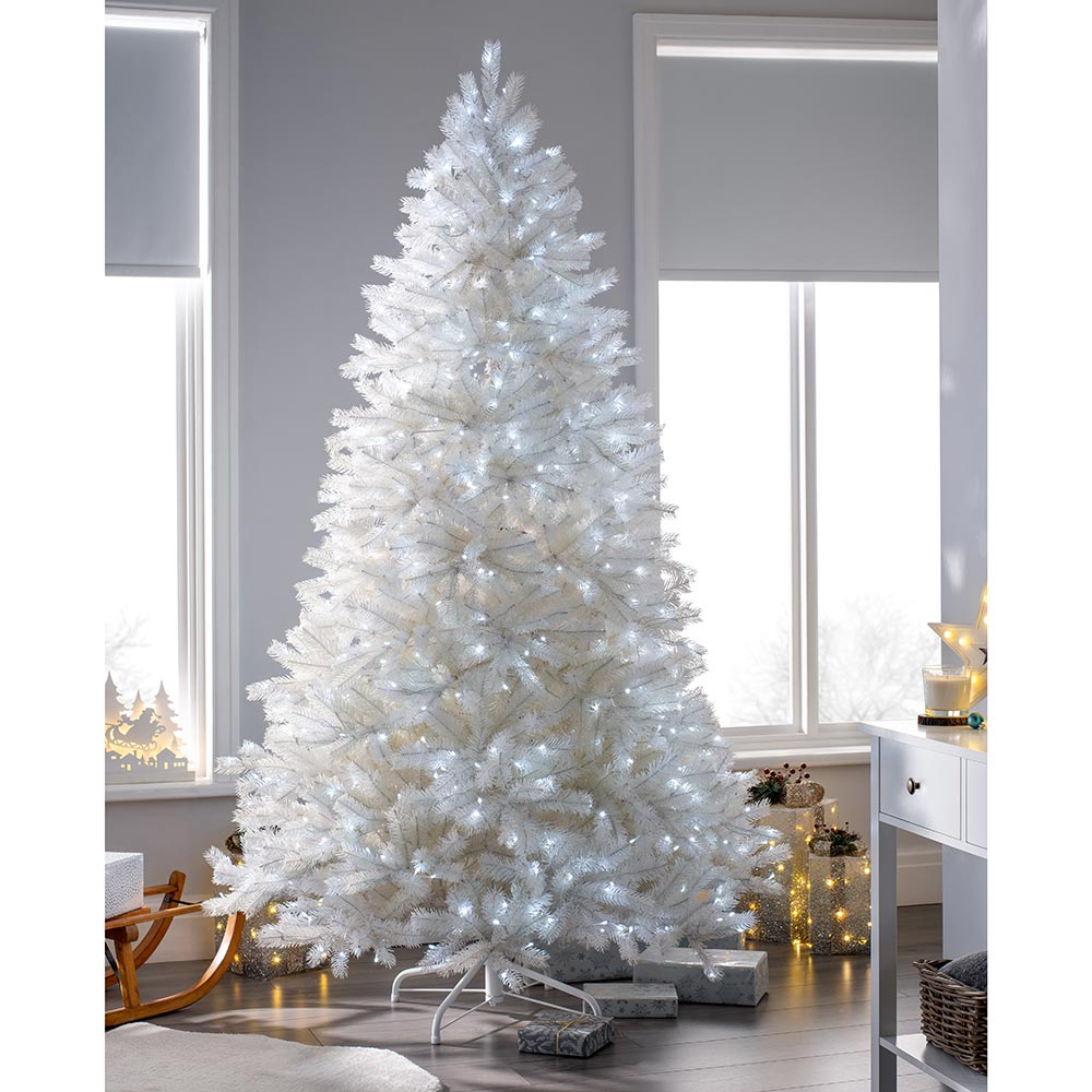 Pre-Lit Mixed Pine White Christmas Tree