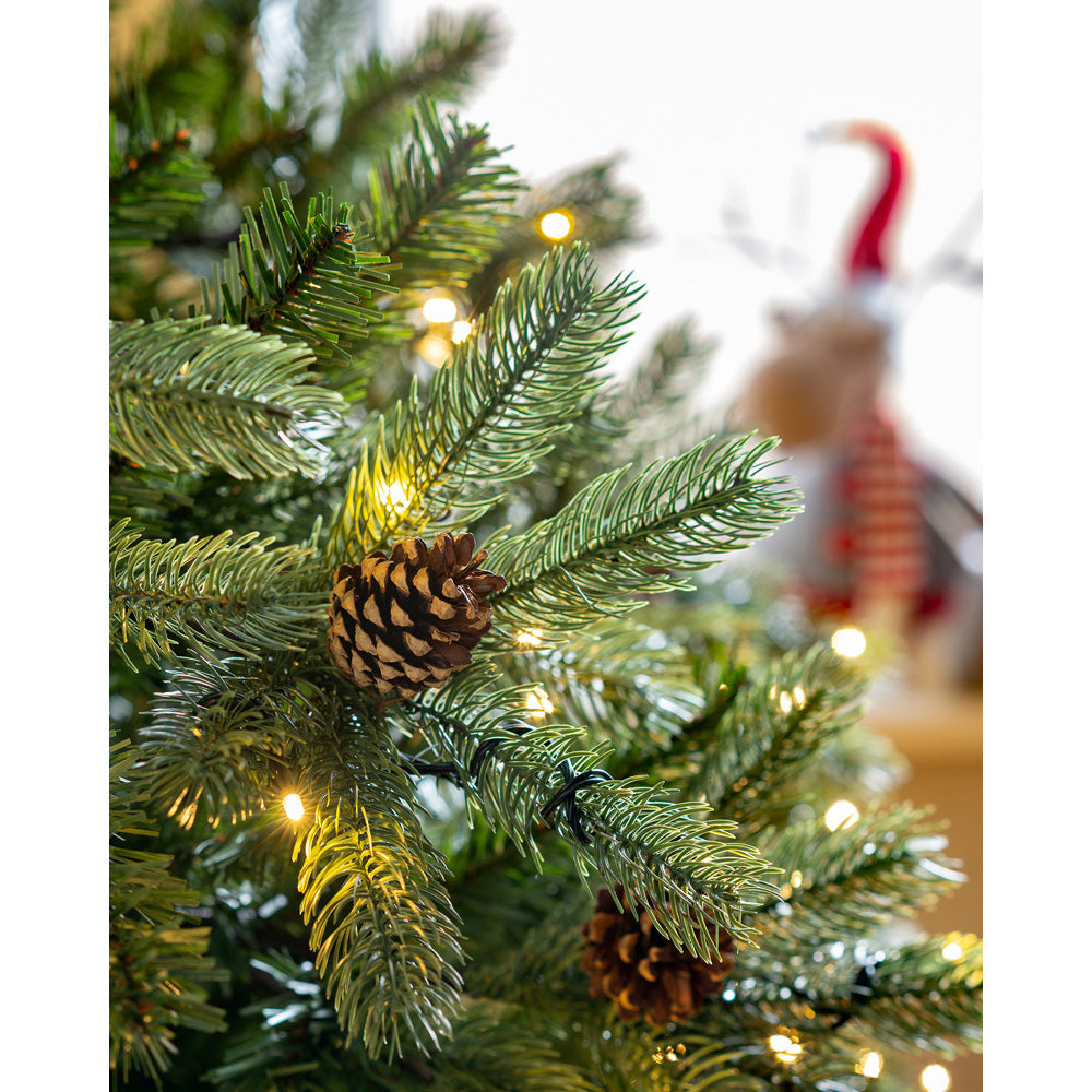 Pre-Lit Craford Pine Cone Multi-Function Christmas Tree
