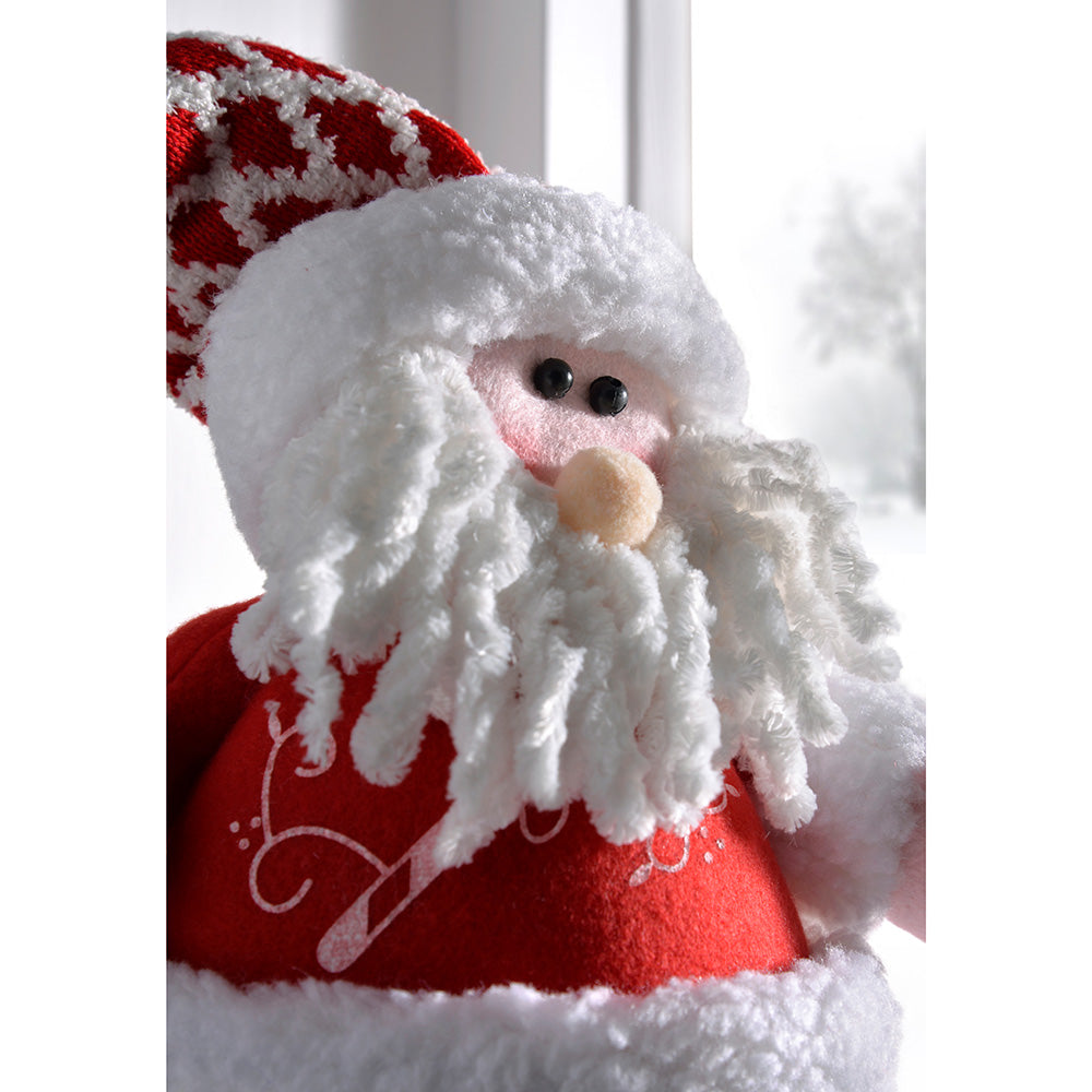 Free Standing Christmas Santa Decoration, 36 cm - Multi-Colour