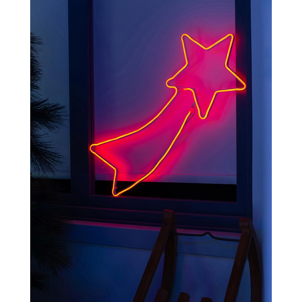 Christmas Shooting Star Neon Rope Light Silhouette 70 cm
