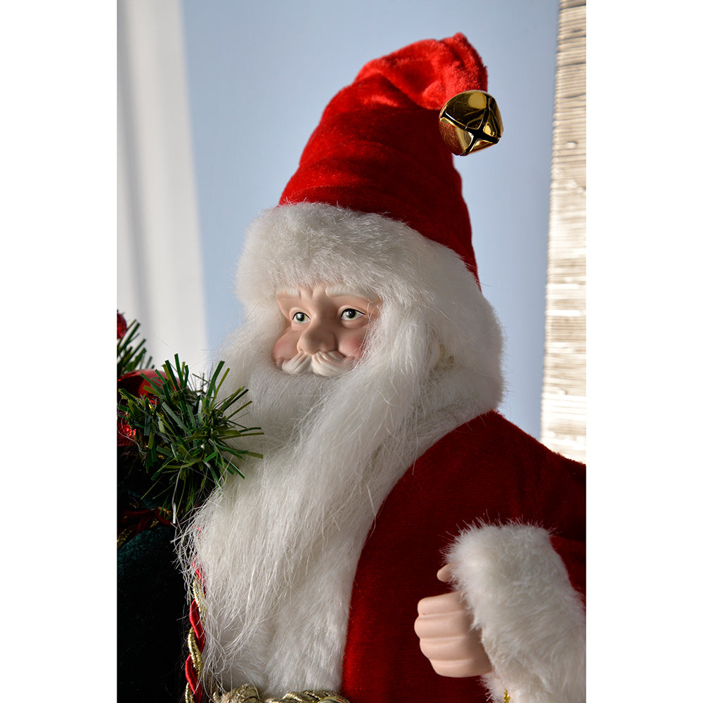 Santa Figurine with Sack Christmas Decoration, 46 cm - Large