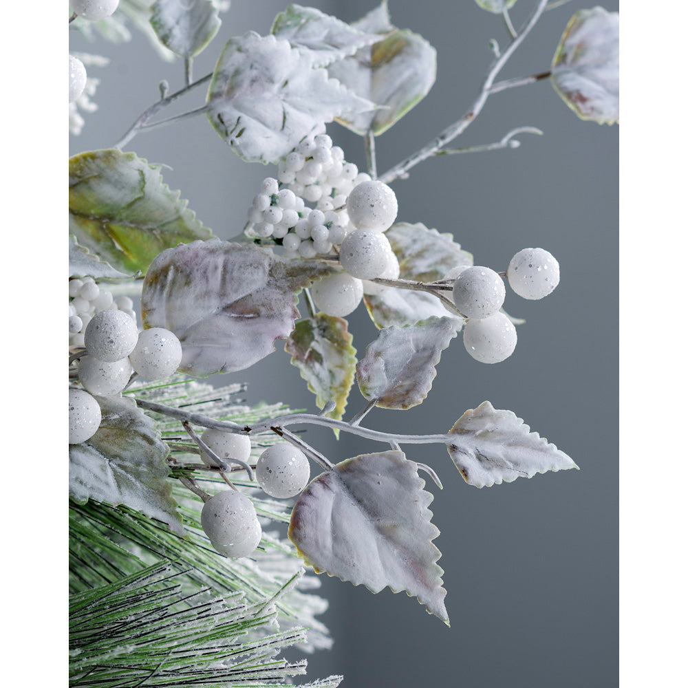 Artificial Frosted Berries Pick Christmas Tree Decoration, White, 25 cm