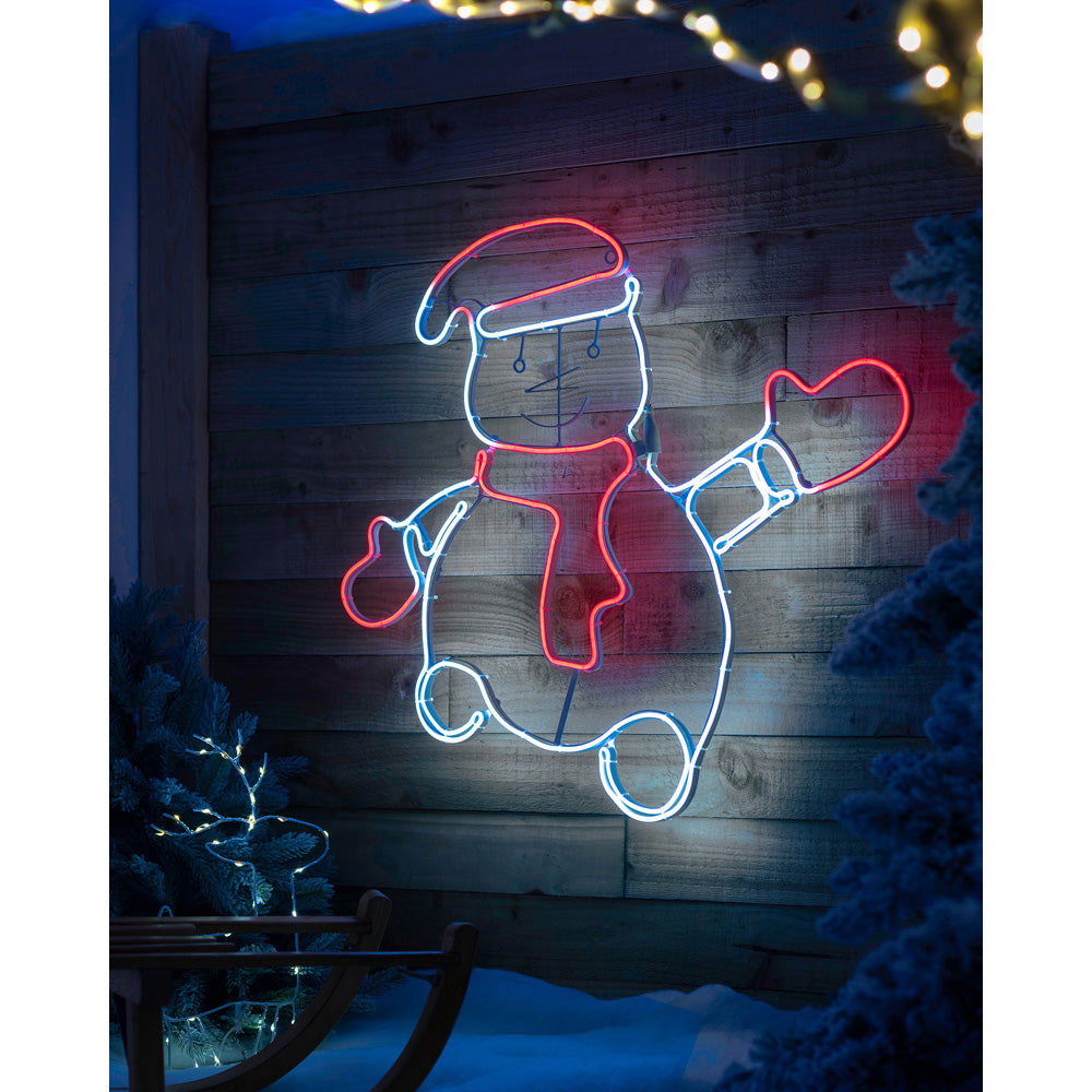 Waving Christmas Silhouette Decoration, Neon Rope Light