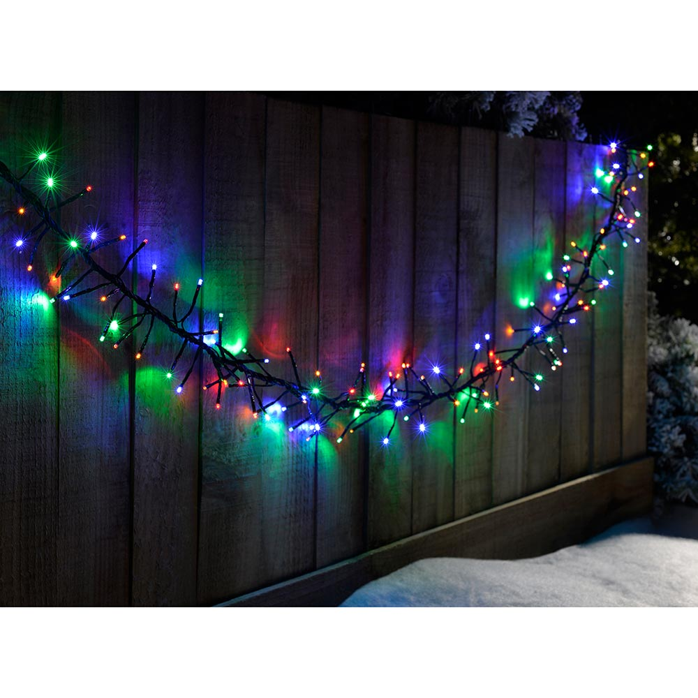 288-Piece Chasing LED Cluster Lights String Christmas Tree Decoration
