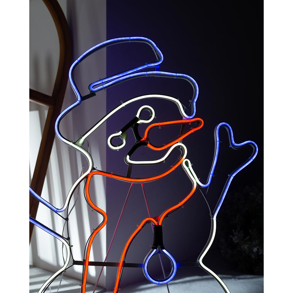 Christmas Neon Rope Light Silhouette, Multi-Colour