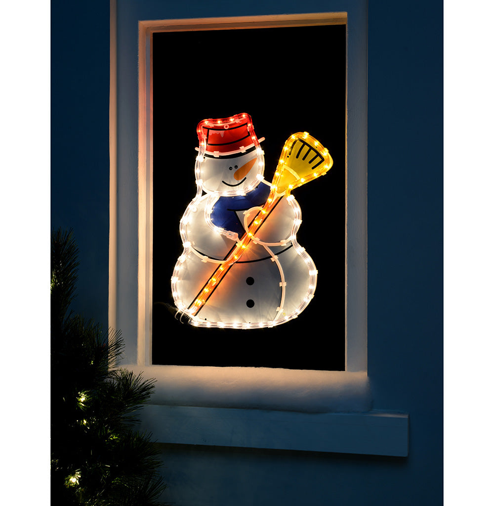 42 cm Large Snowman Rope Light Silhouette Christmas Decoration