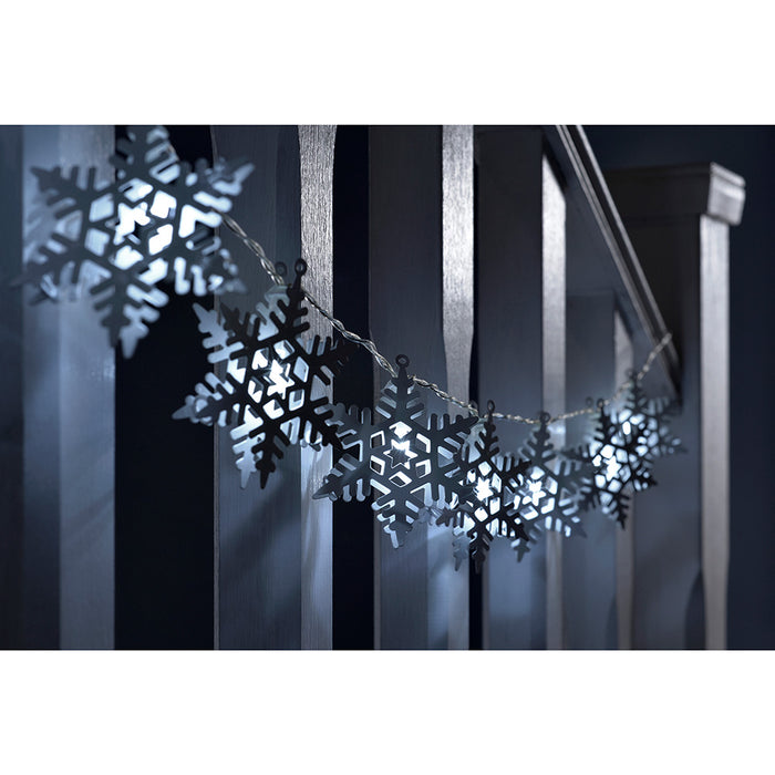Hanging Twig Snowflake Christmas Light With Bright White Fairy Lights 2 Sizes