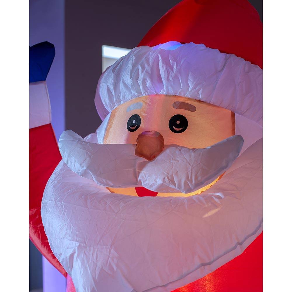 Pre-Lit Animated Inflatable Santa 6 ft / 1.8 m