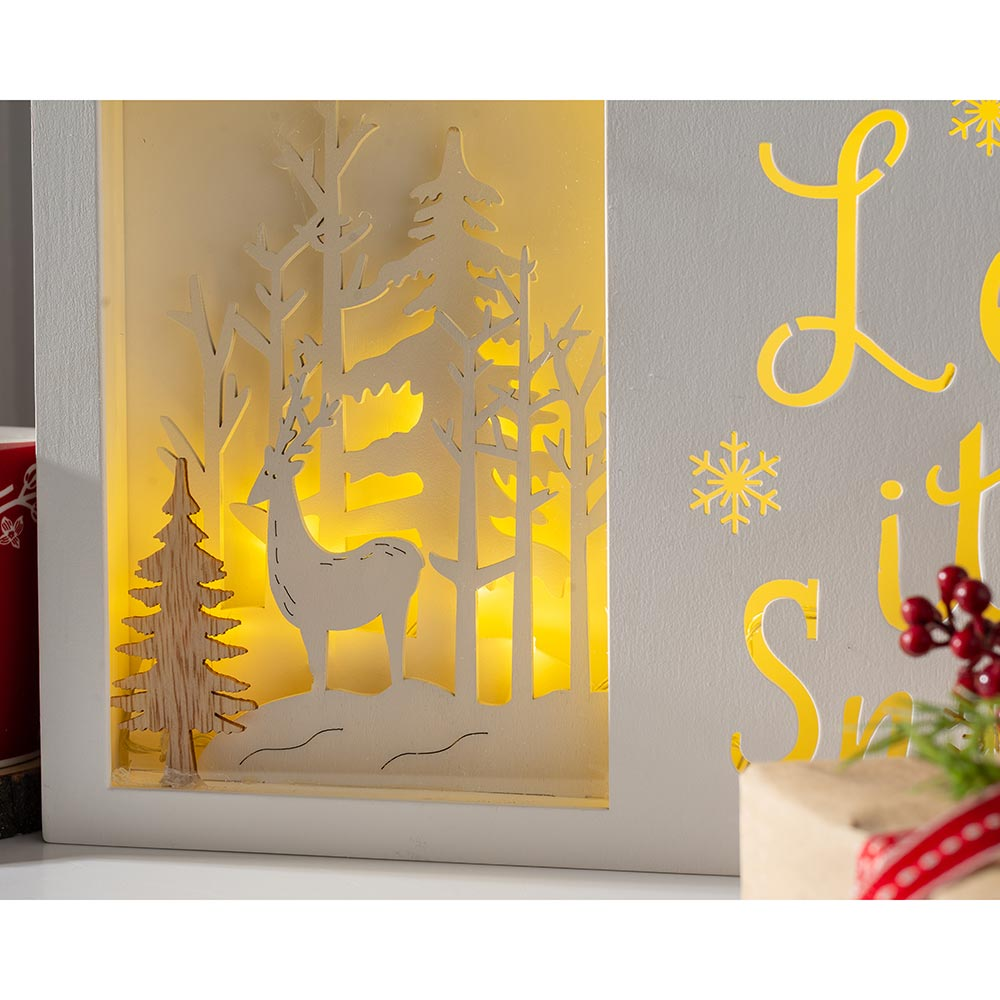 Christmas Let it Snow with a Winter Scene 30 cm