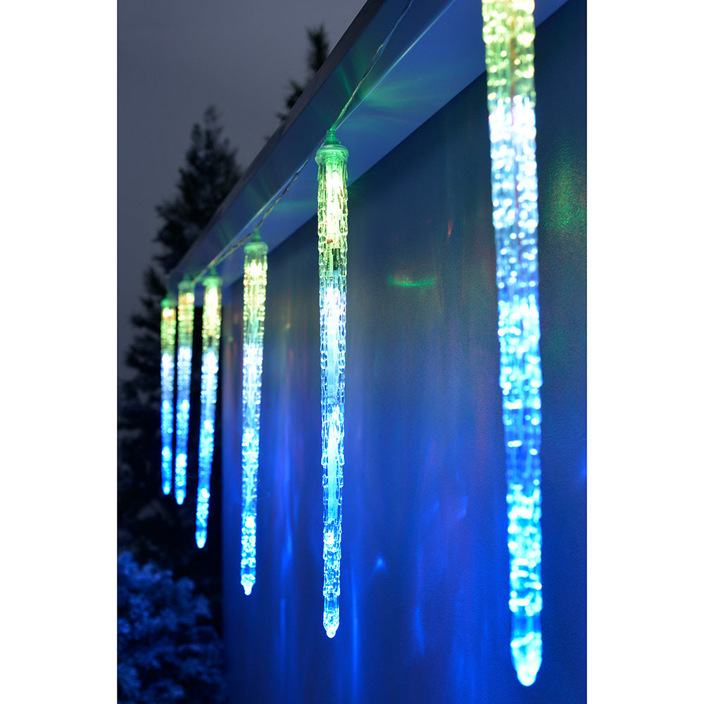 Drop LED Snowing Snowfall/Meteor Shower Display, 3.6 m - Multi-Colour, Set of 8