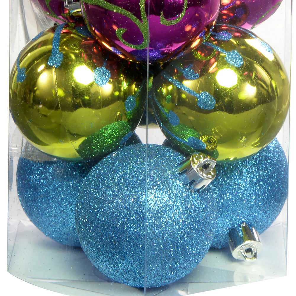 15-Piece Shatterproof Deluxe Christmas Tree Baubles Decoration Pack