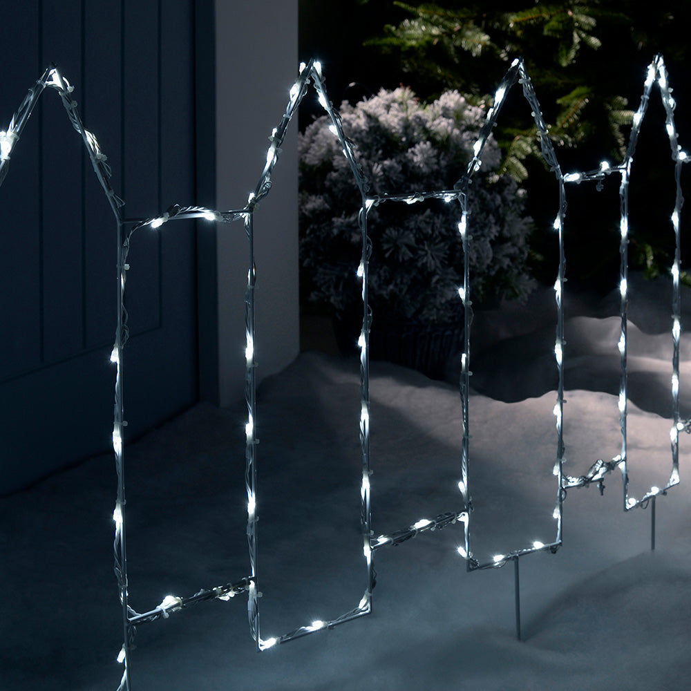 Pre-Lit Outdoor Christmas Fence Light