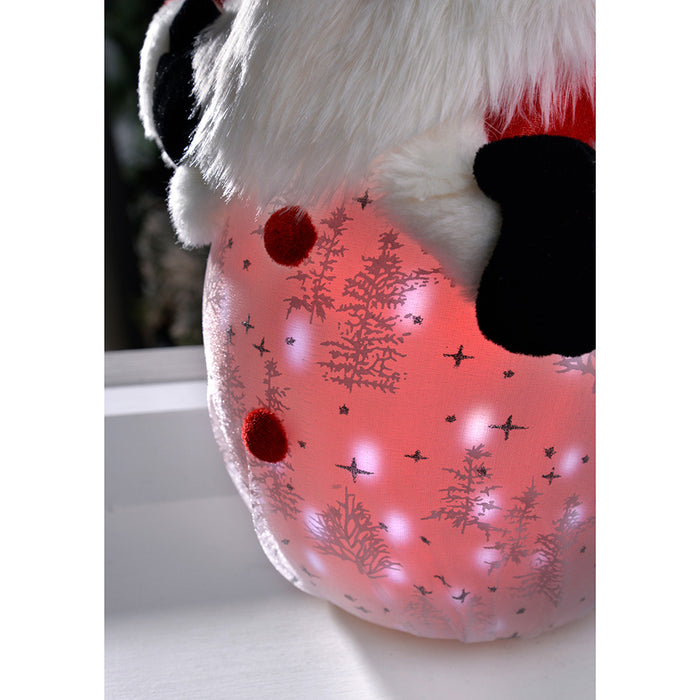 Pre-Lit Light Up and Music Santa with Snowfall Effect LED Lights Christmas Decoration, 45 cm