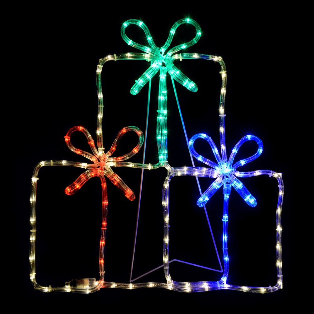 Gift Boxes LED Rope Light Silhouette, 60 cm - Multi-Colour