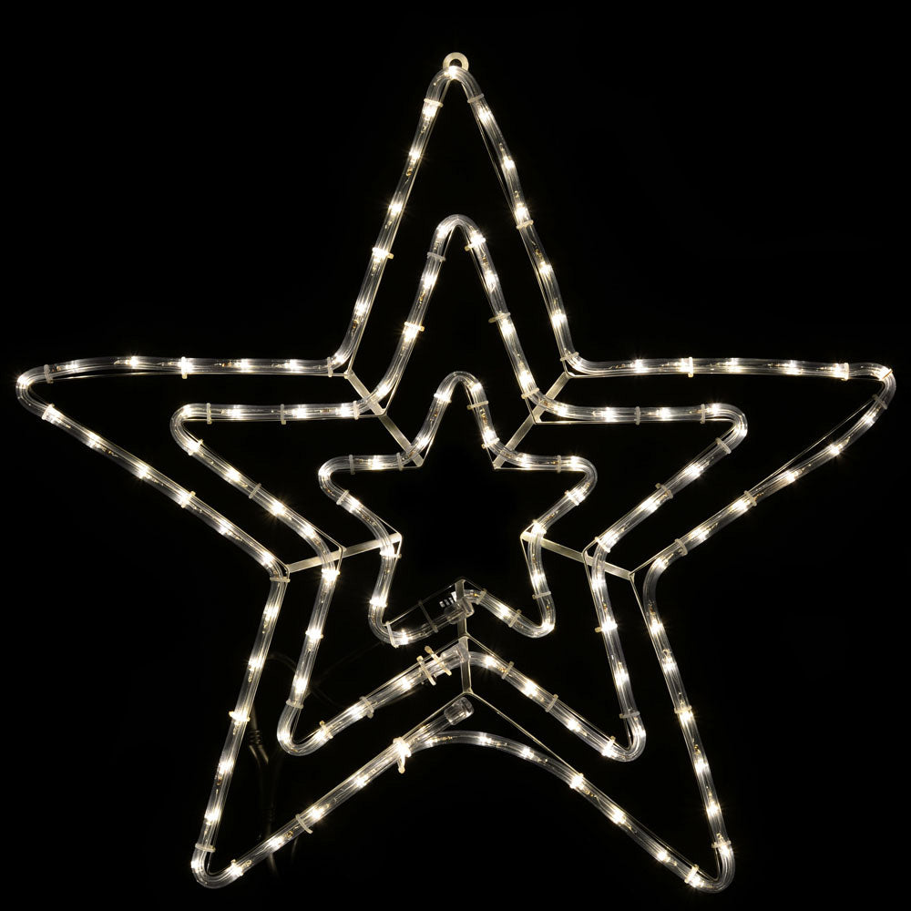 72 cm Large Star Silhouette LED Rope Lights with Flash Effect, Warm White