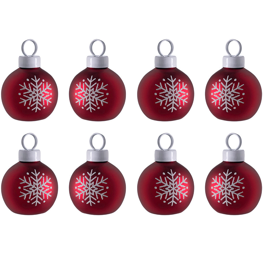 Christmas Card Holder Decoration, Set of 8, Red, 3cm