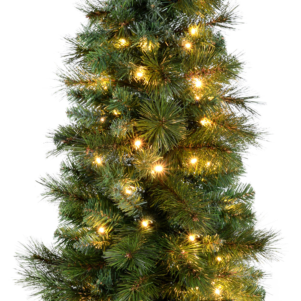 Pre-Lit Victorian Pine Christmas Tree with 80 Warm White LED Lights