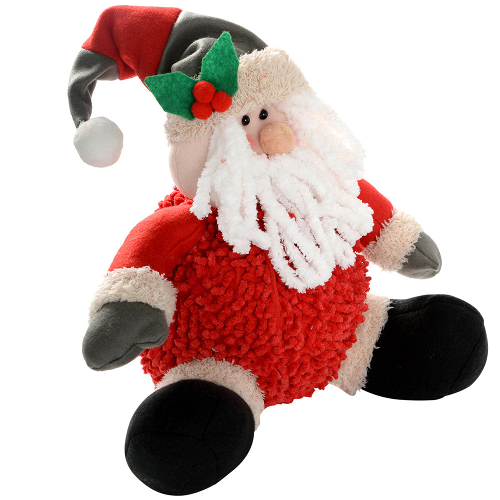 Sitting Santa Christmas Decoration, 30 cm